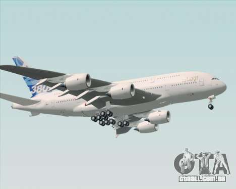 Airbus A380-800 F-WWDD Etihad Titles para GTA San Andreas esquerda vista