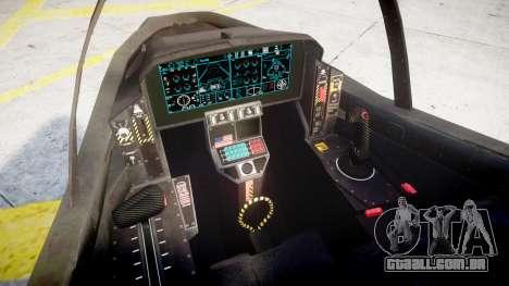 FA-38 para GTA 4 traseira esquerda vista