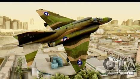 F-4 Vietnam War Camo para GTA San Andreas traseira esquerda vista