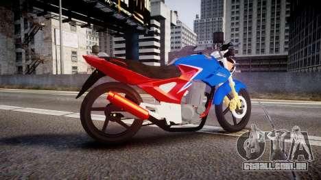 Honda Twister 2014 para GTA 4 esquerda vista