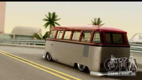 Volkswagen Transporter T1 Stance para GTA San Andreas esquerda vista
