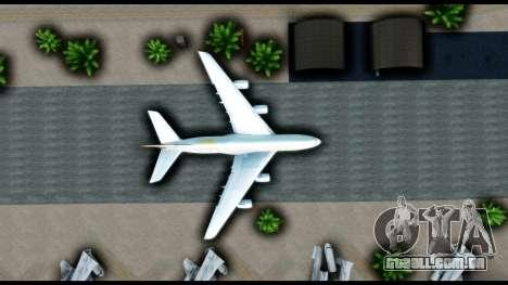 Airbus A380-800 Etihad New Livery para GTA San Andreas vista traseira