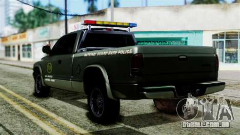 Dodge Dakota National Guard Base Police para GTA San Andreas esquerda vista