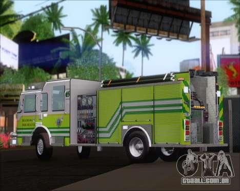 Pierce Arrow XT Miami Dade FD Engine 45 para GTA San Andreas vista traseira