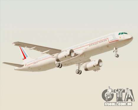 Airbus A321-200 French Government para GTA San Andreas vista direita