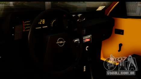 Opel Kadett GSI Drag 2015 para GTA San Andreas traseira esquerda vista