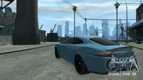 Jaguar XK v.2.0 para GTA 4 vista direita