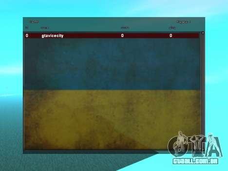 SampGUI Bandeira Da Ucrânia para GTA San Andreas