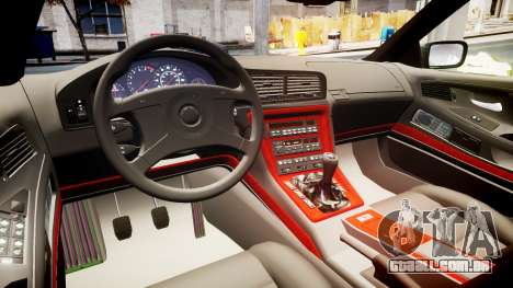 BMW E31 850CSi 1995 [EPM] Castrol White para GTA 4 vista interior