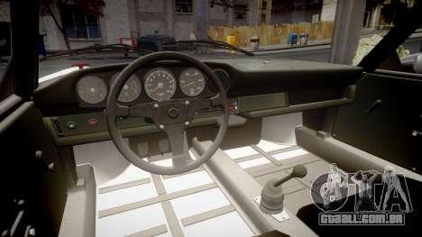 Porsche 911 Carrera RSR 3.0 1974 PJ210 para GTA 4 vista interior