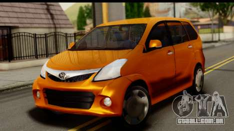 Toyota Avanza Veloz 2012 para GTA San Andreas
