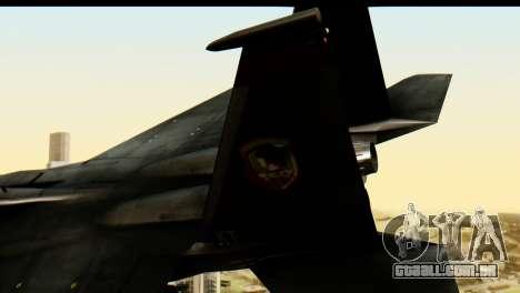 F-15 Razgriz para GTA San Andreas traseira esquerda vista