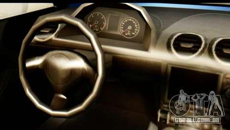 GTA 5 Obey 9F Cabrio para GTA San Andreas traseira esquerda vista