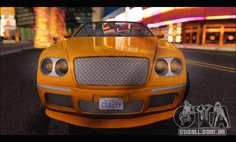 Enus Cognoscenti Cabrio (GTA V) (IVF) para GTA San Andreas vista direita