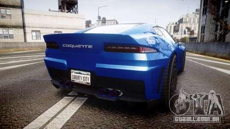 GTA V Invetero Coquette para GTA 4 traseira esquerda vista