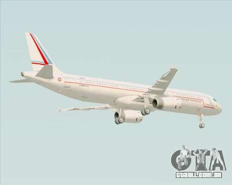 Airbus A321-200 French Government para GTA San Andreas vista traseira