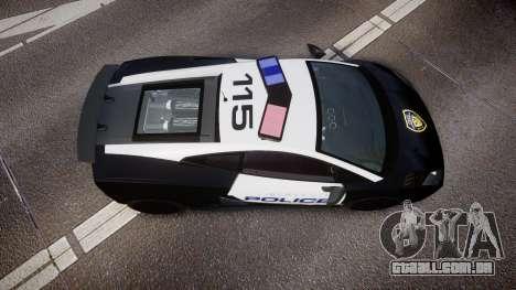 Lamborghini Gallardo LP570-4 LCPD [ELS] para GTA 4 vista direita