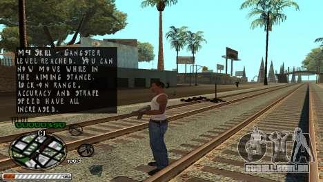 C-HUD Wonderful para GTA San Andreas por diante tela