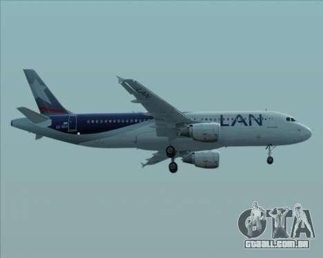 Airbus A320-200 LAN Argentina para GTA San Andreas traseira esquerda vista
