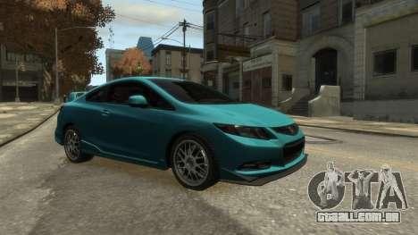 Honda Civic Si 2013 v1.0 para GTA 4 traseira esquerda vista