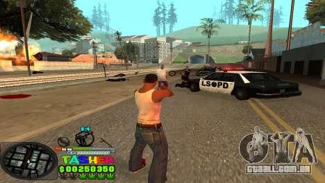 C-HUD Tasher para GTA San Andreas terceira tela