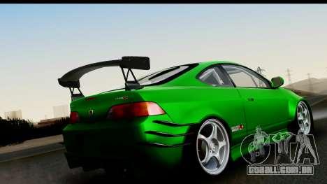 Honda Integra Type R Time Attack IVF para GTA San Andreas esquerda vista
