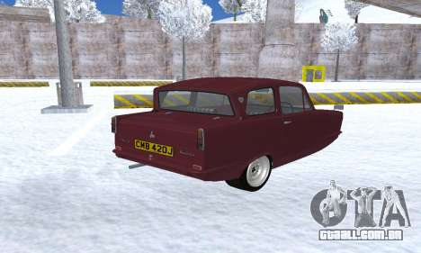 Reliant Regal Sedan para GTA San Andreas traseira esquerda vista