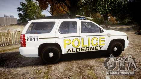 Chevrolet Tahoe 2010 Police Alderney [ELS] para GTA 4 esquerda vista