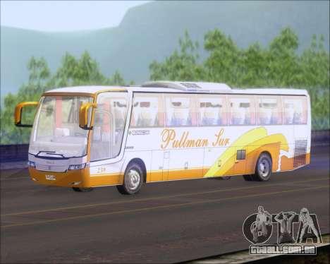Busscar Vissta Buss LO Pullman Sur para GTA San Andreas traseira esquerda vista
