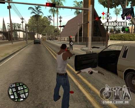 C-HUD Hardcore para GTA San Andreas segunda tela