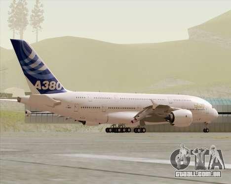 Airbus A380-800 F-WWDD Etihad Titles para GTA San Andreas vista superior