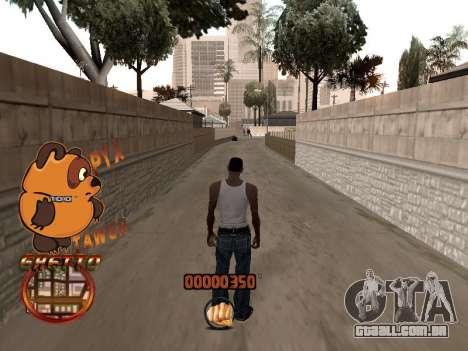 C-HUD PYX TAWER GHETTO para GTA San Andreas por diante tela