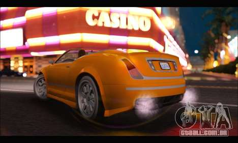Enus Cognoscenti Cabrio (GTA V) (IVF) para GTA San Andreas esquerda vista