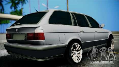 BMW M5 E34 Wagon para GTA San Andreas esquerda vista