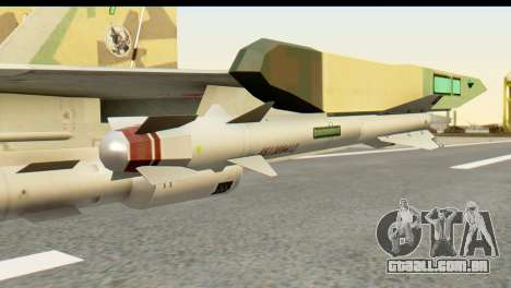 SU-35 Flanker-E ACAH para GTA San Andreas vista direita