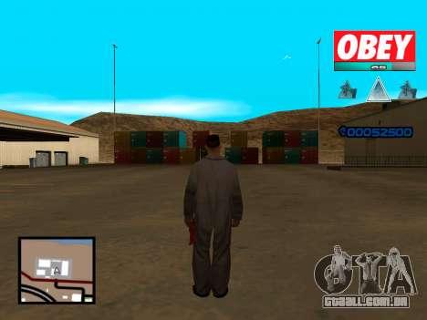 C-HUD Obey para GTA San Andreas segunda tela