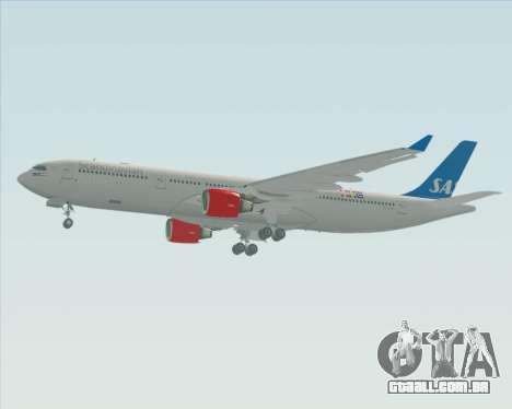 Airbus A330-300 Scandinavian Airlines para GTA San Andreas traseira esquerda vista