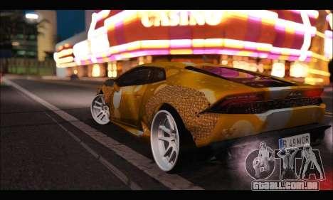 Lamborghini Huracan LB Solar para GTA San Andreas traseira esquerda vista