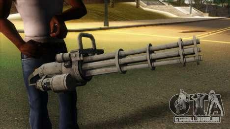 Minigun from GTA 5 para GTA San Andreas terceira tela