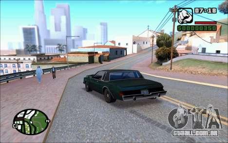 Ivy ENB June para GTA San Andreas por diante tela