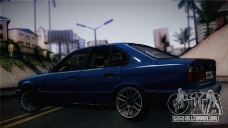 BMW M5 E34 Stance para GTA San Andreas traseira esquerda vista