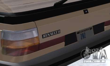Renault 11 Turbo Phase I 1984 para GTA San Andreas vista superior