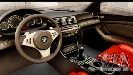 BMW M3 E46 GTR NFS MW para GTA San Andreas vista traseira