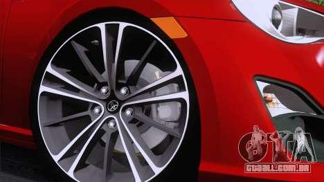 Toyota GT86 (ZN6) 2012 para GTA San Andreas vista traseira