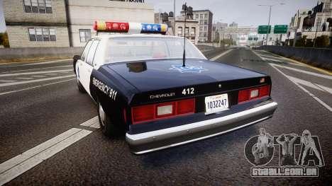 Chevrolet Impala 1985 LCPD [ELS] para GTA 4 traseira esquerda vista