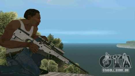 Metal AWP L96A1 para GTA San Andreas terceira tela