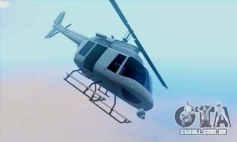 GTA 5 Maverick para GTA San Andreas esquerda vista