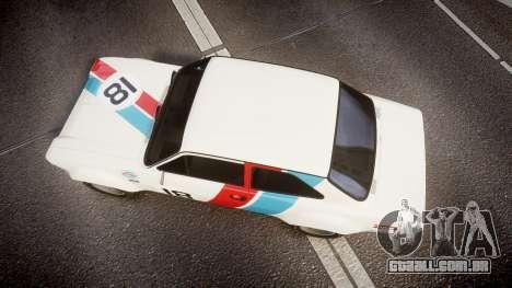 Ford Escort RS1600 PJ18 para GTA 4 vista direita