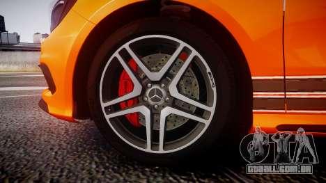 Mersedes-Benz A45 AMG PJs4 para GTA 4 vista de volta
