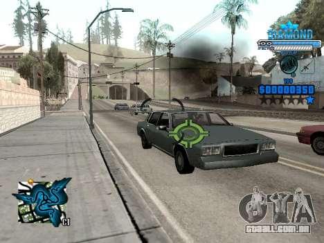 C-HUD Blek-Pro Diamond para GTA San Andreas por diante tela
